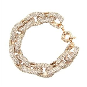 Gorgeous Pave Clear Crystal Link Bracelet